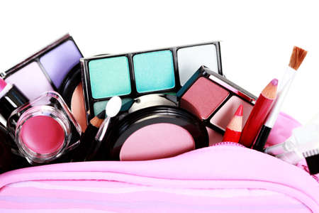 all you need to have lovely make-up on white - beauty treatment Stock Photo - 9015686