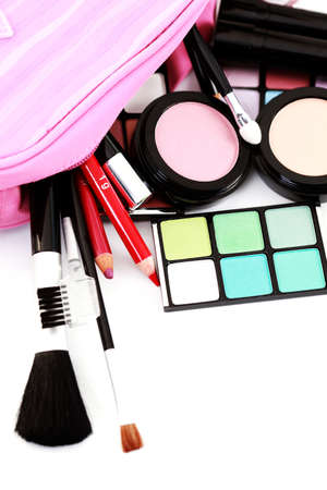 all you need to have lovely make-up on white - beauty treatment Stock Photo - 9015661