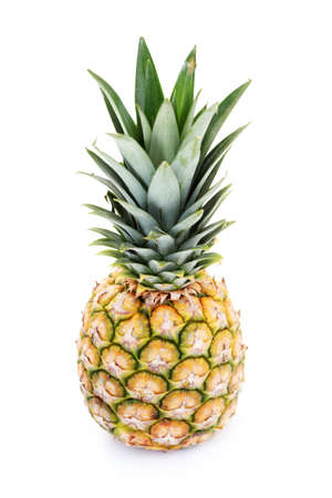fresh pineapple on white background - fruits and vegetables