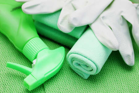all you need to clean house - close-ups of cleaning supplies Stock Photo - 9015898