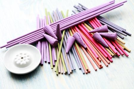 für Nahaufnahmen von Räucherstäbchen - Aromatherapie