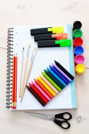 all you need to go to school - school time Stock Photo - 9410160