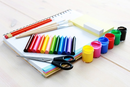all you need to go to school - school time Stock Photo - 9410068
