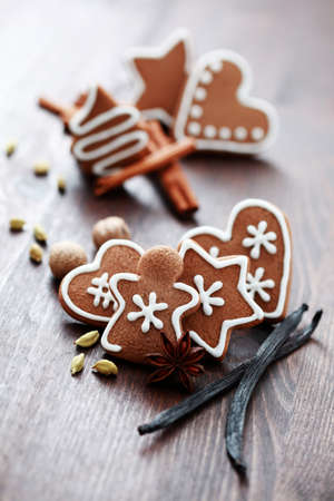 Christmas cookies with spices - Christmas time photo