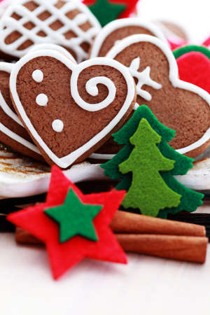 plate full of Christmas gingerbreads - sweet food Banque d'images
