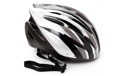 casque de vélo isolé sur fond blanc - le sport et les loisirs