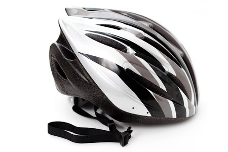 fietshelm geïsoleerd op wit - sport en vrije tijd