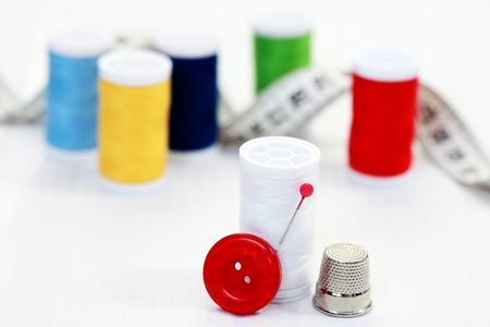 haberdashery: close-ups of sewing stuff Stock Photo