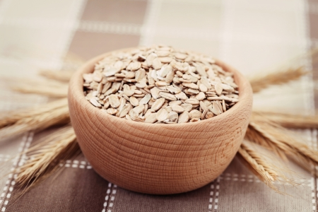 bowl full of oats - food and drink  Stock Photo