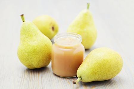 jar of baby food - pear - baby stuff