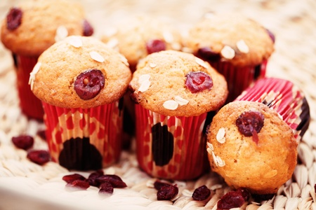 delicious muffins with cranberries - sweet food