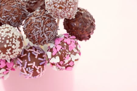 delicious chocolate cake pops - sweet food