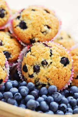 mascarpone and blueberry muffins - sweet food