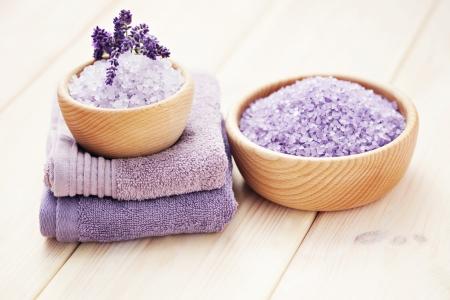 Miska lawendy sól do kÄ…pieli - zabiegi kosmetyczne Zdjęcie Seryjne