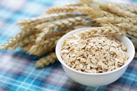 bowl full of oats - healthy eating -food and drink