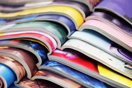 잡지의 스택 - 정보 스톡 콘텐츠