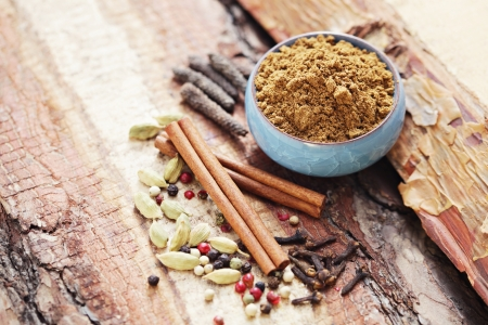 homemade garam masala - herbs and spices