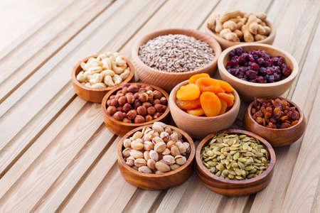 bowls full of dried fruits - healthy eating Фото со стока
