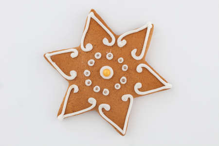 gingerbread on white background - Christmas time