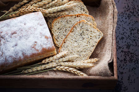 homemade bread with nigella sativa seeds - food and drink