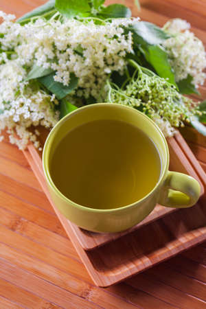 cup of elderflower tea - alternative medicine