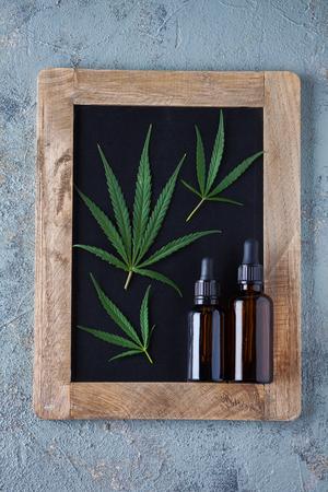 Medical marijuana cannabis cbd oil hemp leaf - alternative medicine