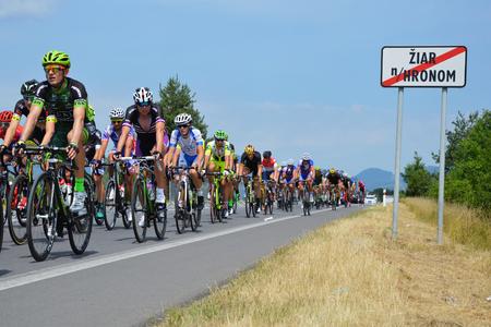 ZIAR NAD HRONOM, SLOVAKIA - JUNE 26, 2017: The Slovak and Czech National road cycling championship. Stok Fotoğraf - 81332388