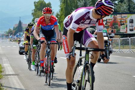 ZIAR NAD HRONOM, SLOVAKIA - JUNE 26, 2017: The Slovak and Czech National road cycling championship. Stok Fotoğraf - 81333353