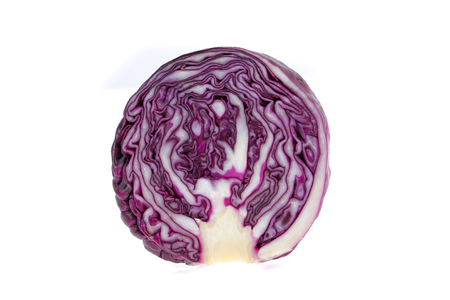 rea cabbage isolated on white