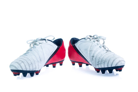 Football shoes isolated on the white background