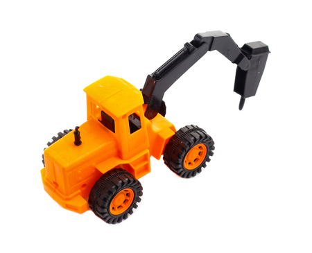 Toy car for Masonry drill on white background