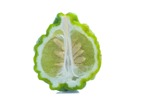 Bergamot fruit isolated on white background
