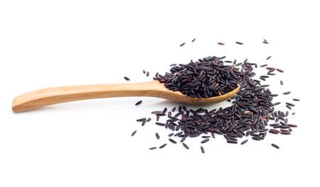 Black rice isolated