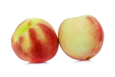 Peach isolated on white