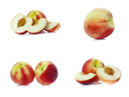 set of Peach isolated on white
