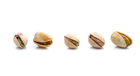 Pistachio nuts. Isolated on a white background