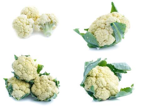 Cauliflower isolated on white background(Set)