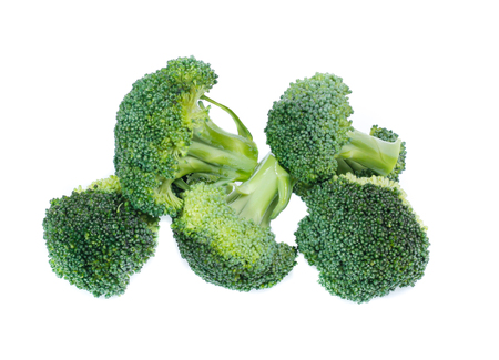 Healthy brocoli isolated on white