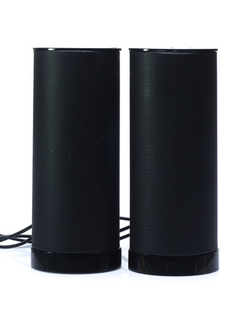 back speaker isolated on white Stock Photo