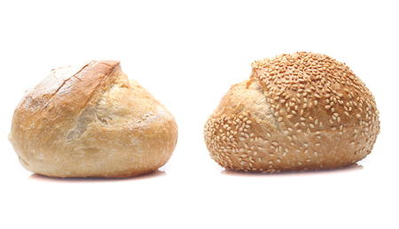 breads isolated on a white background Stock Photo
