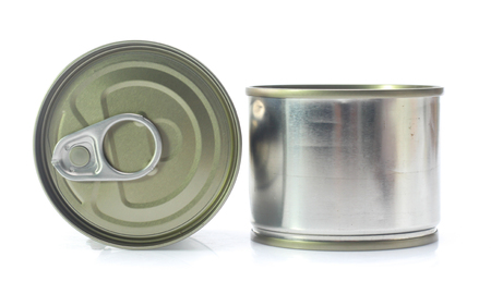 aluminum can isolated on white background