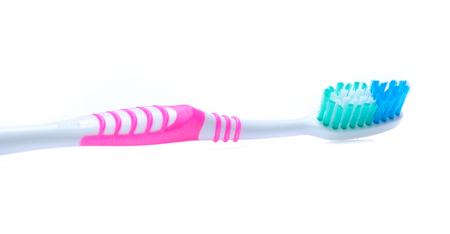 toothbrush isolated on a white background Stock Photo