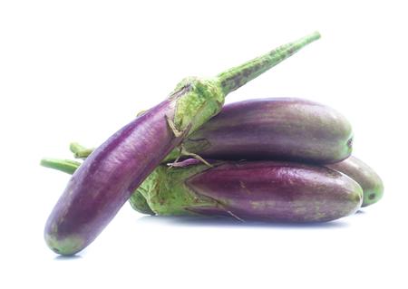 eggplants on white background Reklamní fotografie
