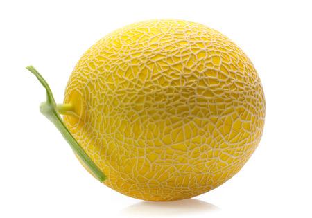 cantaloupe melon isolated on white Stock Photo
