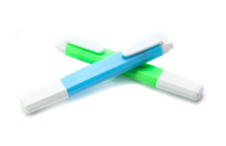 Colorful marker pen  isolated on white background
