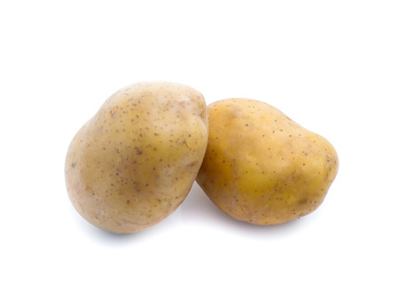 potatoes isolated on white background Stock Photo