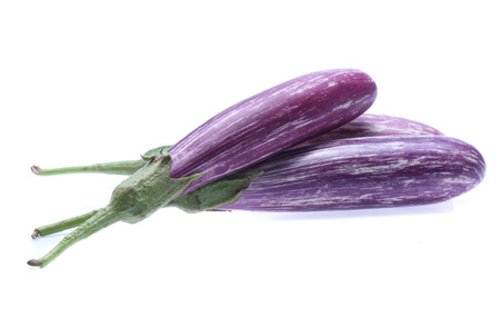Eggplant  vegetable isolated on white background