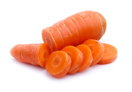 fresh carrots isolated on white background