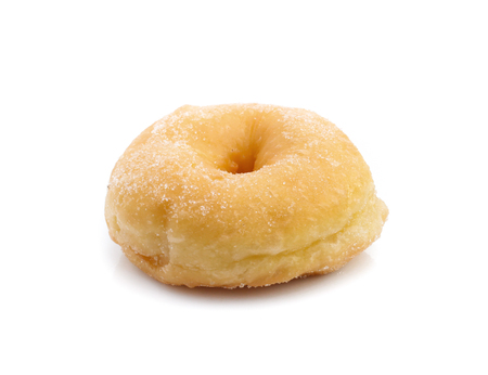 Sugar donut isolated on a white