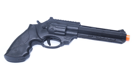 Hand gun isolated on the white Stock Photo